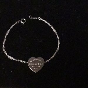 "Tiffany Silver ""Return to Tiffanys"" Heart Bracelet"